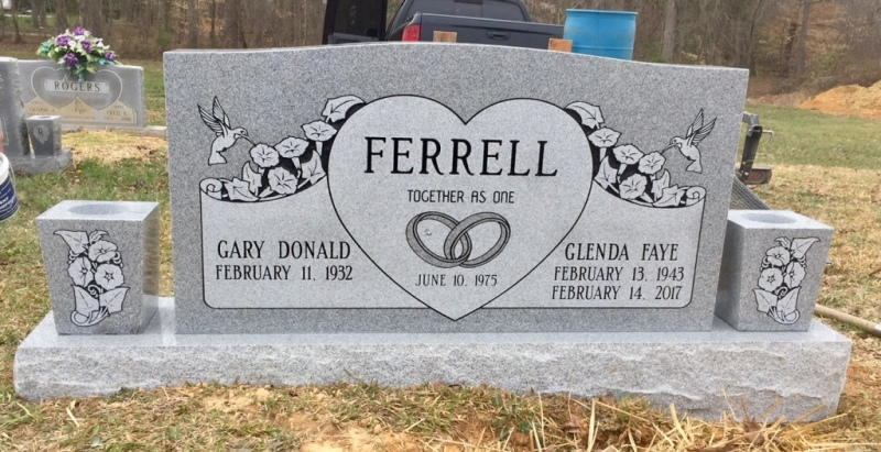 The Monument of Gary Donald & Glenda Faye Ferrell