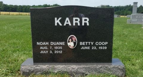 The Monument of Noah Duane & Betty Coop Karr