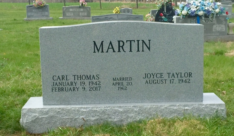 The Monument of Carl Thomas & Joyce Taylor Martin