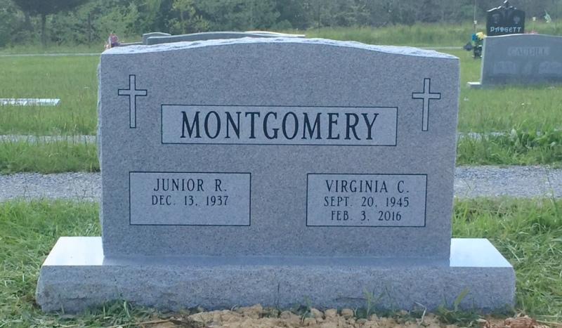 The Monument of Junior R. & Virginia C. Montgomery