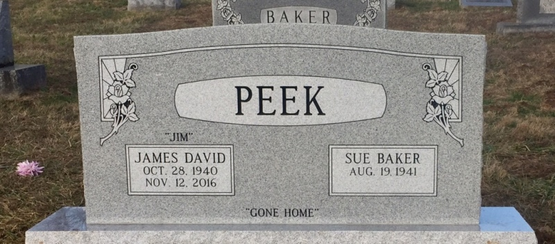 The Monument of James David Jim & Sue Baker Peek