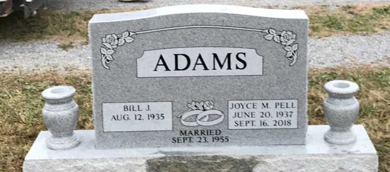The Monument of Bill J. & Joyce M. Pell Adams