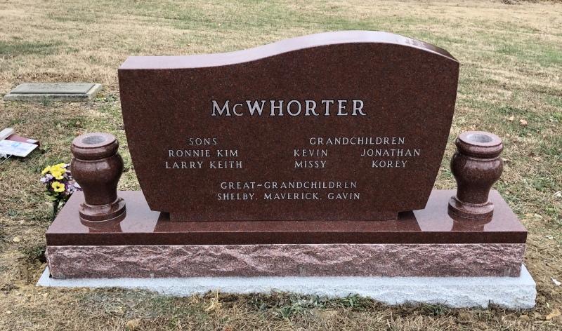 Monument of Ronald Harold & Bonnie Rose Watkins McWhorter