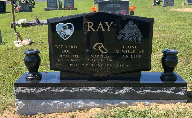 The Monument of Bernard (Doc) and Bonnie McWhorter Ray