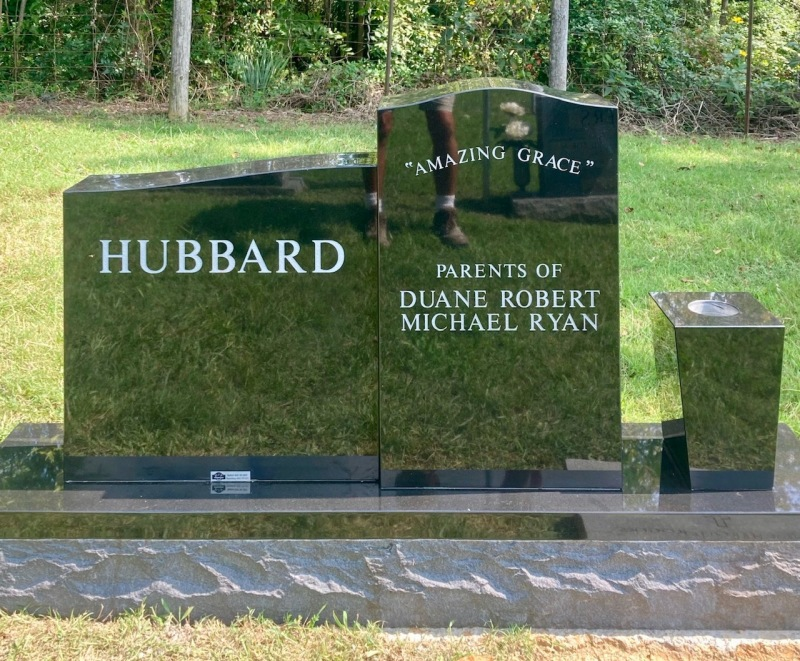The Monument of Lanny and Sandra J. Carrier Hubbard