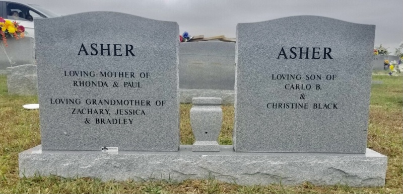 The Monument of Paul Allen and Christine Black Asher