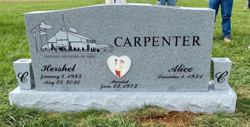 The Monument of Hershel and Alice Carpenter