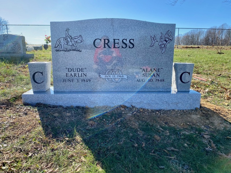 The Monument of Dude and Alane Cress