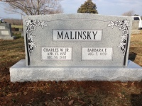 Monument of Charles W. Malinsky, Jr. & Barbara F. Malinsky