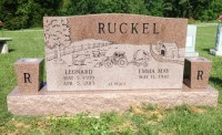The Monument of Leonard & Emma May Ruckel