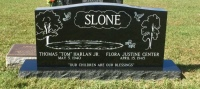Monument of Thomas (Tom) Harlan Slone, Jr. & Flora Justine