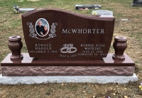 Monument of Ronald Harold & Bonnie Rose Watkins McWhorter