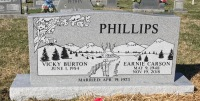 The Monument of Earnie Carson and Vicky Burton Phillips