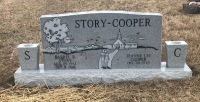 The Monument of Darrel B. Story and Jeanne Lee Cooper
