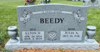 The Monument of Elton D. and Julia A. Beedy
