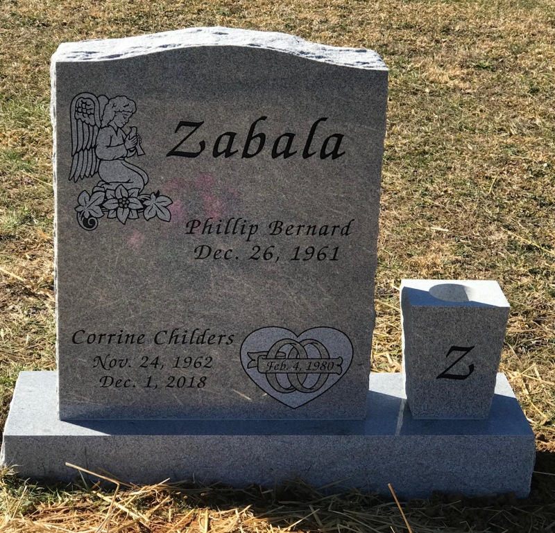 The Monument of Phillip Bernard and Corrine Childers Zabala
