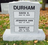 The Monument of David K., Jennifer Ann, & Danielle Durham