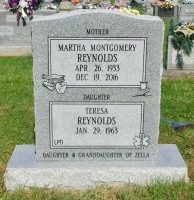 The Monument of Martha Montgomery Reynolds & Teresa Reynolds