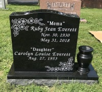 The Monument of Ruby Jean Everett and Carolyn Louise Everett