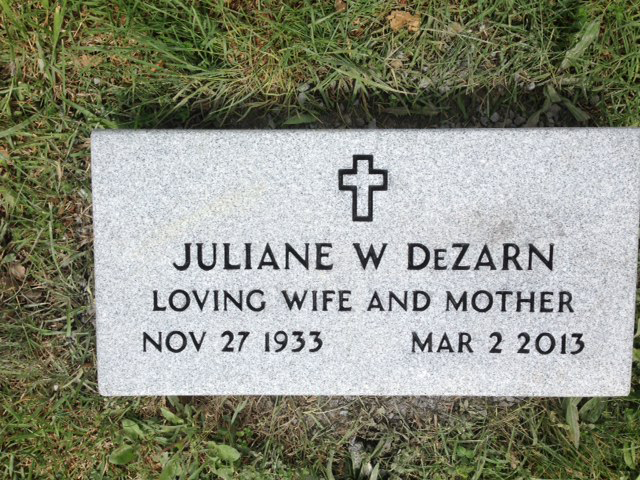 The Monument of Juliane W. DeZarn