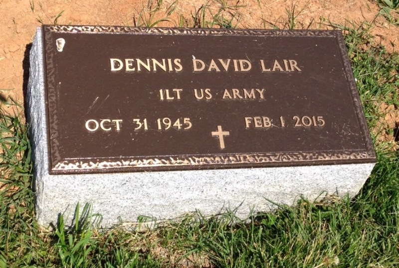 The VA Foot Marker for Dennis David Lair