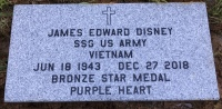 The VA Foot Marker for James Edward Jim Disney