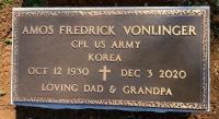The Marker for Amos Fredrick VonLinger