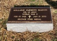 The VA Marker for Millard Clemon Mason