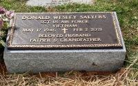 VA Marker for Donald Wayne Salyers