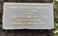 The VA Marker for Gary Donald Ferrell