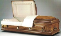 Ceremonial/Rental Oak Casket