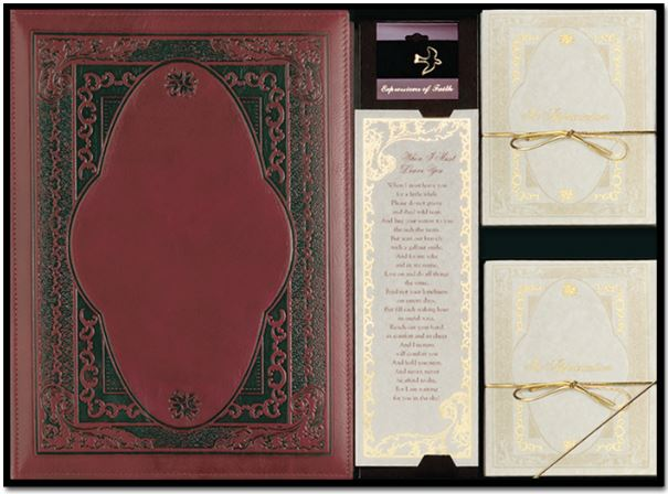 Ornate Prestige Leather Register Book Package