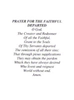 Prayer For The Faithful Departed