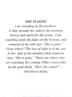 She is Gone