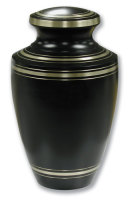 Black Elite Brass Urn