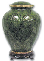 Green Cloisonné Urn