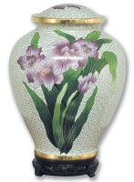 Iris Cloisonné Urn
