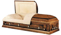 Solid Oak Ceremonial Casket