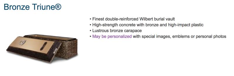 Wilbert Bronze Triune