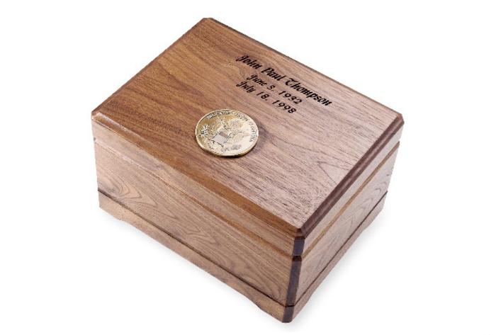 Walnut Memento Urn