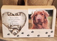 Paw Print Cultured Stone - Frame