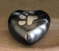 Slate Paw Heart Keepsake Urn
