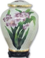 Cloisonne Lily Urn