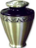 Golden Leaf Urn