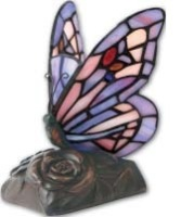 Tiffany Style Butterfly Keepsake Lamp