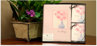 Vase with Pink Flowers Collection with Memorial Folders