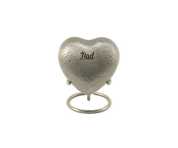 Legacy Metallics Silver Heart Keepsake w/ Velvet Box (5298H)