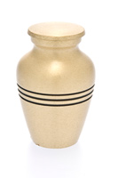 Classic Bronze Metal Urn Keepsake