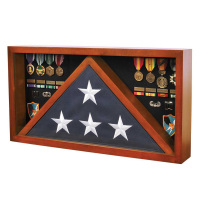 Flag Case with Medal Display