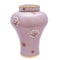 Melrose Pink Cloisonne Urn
